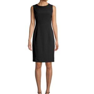 Worth black wool sheath dress size 6